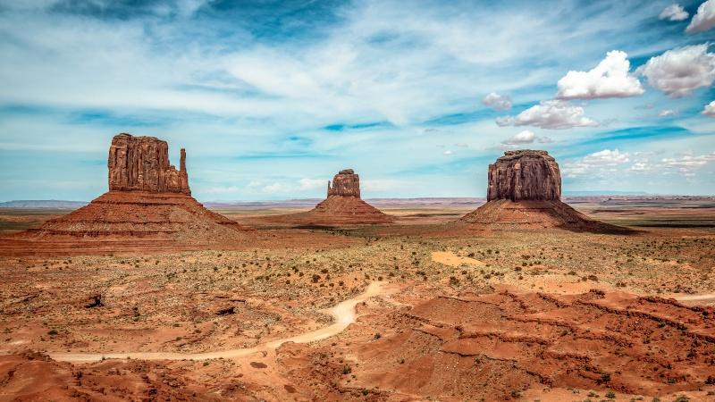 Monument Valley met een huurauto