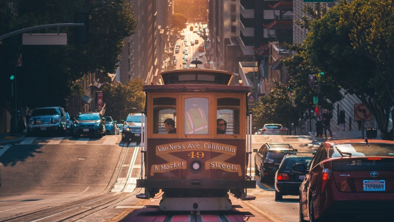 rijden in San Francisco met een huurauto